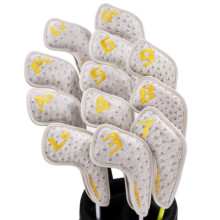 NEW Champkey Iron Headcover 12pcs/set PU Leather With Breath Holes 3 Colors Club Head Cover