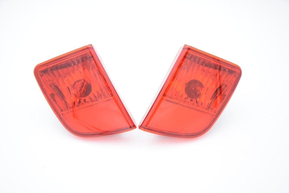 1 Пара Красный Новый Автомобиль Хвост Задний Бампер Противотуманные Фары Лампы Без Лампы Накаливания Для Тойота Ленд Крузер 2013