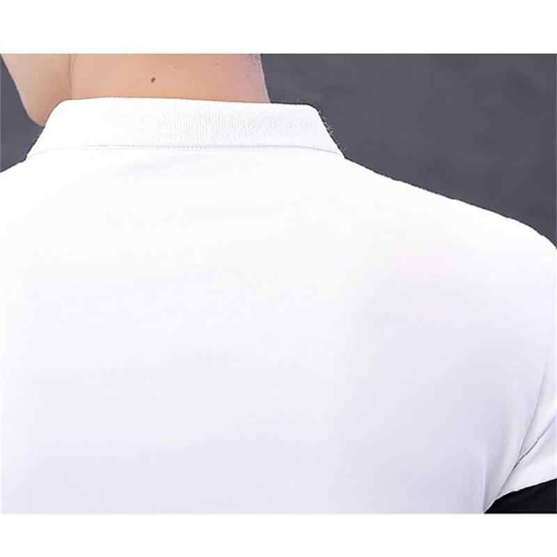 2019 koszulka polo w paski marki człowiek bawełna lato oddychająca przeciwzmarszczkowy Slim Business Top Casual hiphopowy sweter gorąca sprzedaż