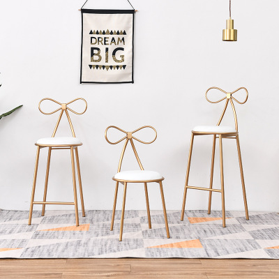 Nordic Iron Casual Bow Back Chair Cafe Modern Dining Chair Restaurant Restaurant Meeting Room Chair Chairvelvet Dining Chairs
