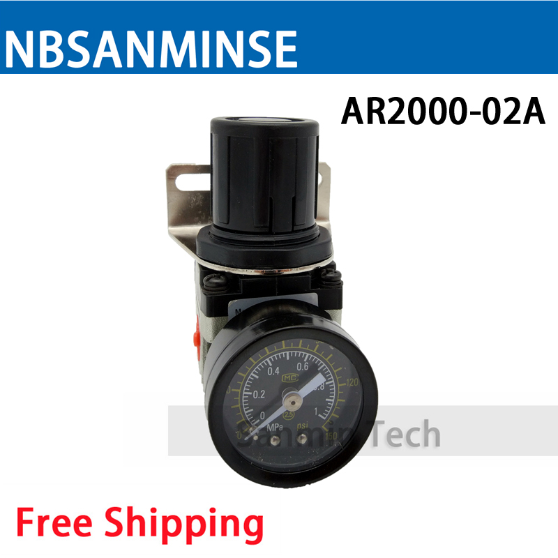 Free Shipping AR2000 AR4000 Regulator SMC Type Air Source Equipment Units SMC Type FRL Units Air Compressor Parts Sanmin free shipping ac2000 bc2000 three units air source units airtac type frl units air compressor filter regulator sanmin