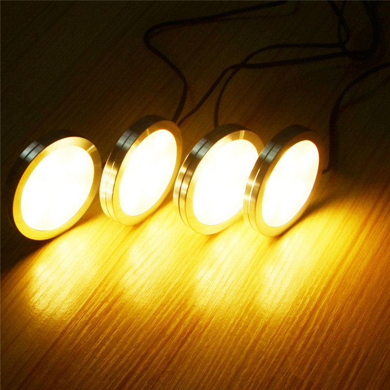 8 PCS LED Under Cabinet Light 12 LEDs Remote Control Dimmable Kitchen Lights wardrobe bar lamp night lamps home Decoration