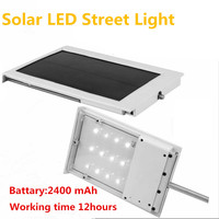Solar Power LED Street Lamp 12SMD LED Lamp Corridor Courtyard Yard Garden Outdoor Lighting Solar Panel ABS+Aluminum