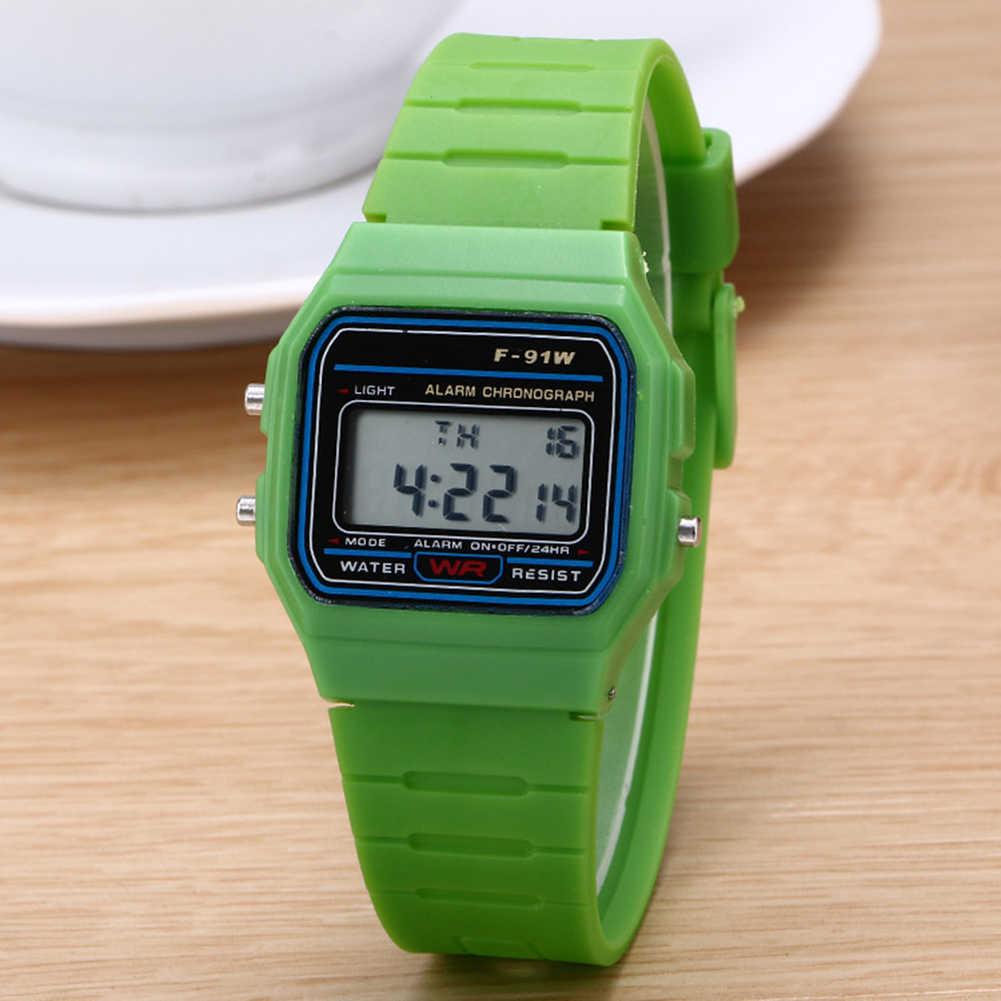 Reloj de pulsera con esfera Digital rectangular de plástico, reloj electrónico deportivo con alarma multifunción, reloj cuadrado para niños