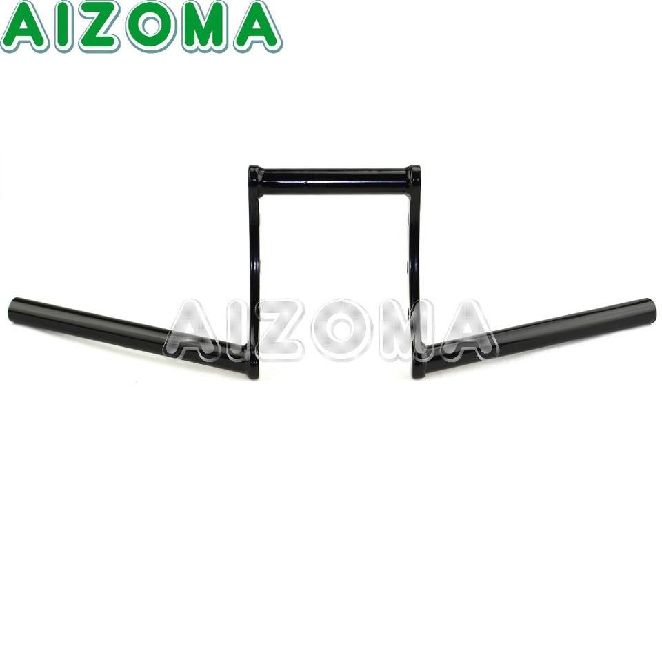 Negro 7//8 22mm Moto Arrastre Z-barra De Retroceso Manillar
