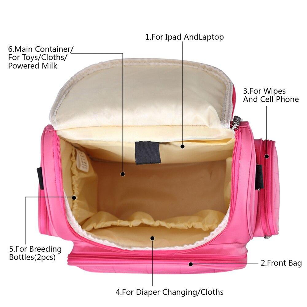 Baby Care Torba na zmianę Nappy Wielofunkcyjna 5 kolorów Opcjonalne - Pieluchy i Trenowanie toalety - Zdjęcie 5