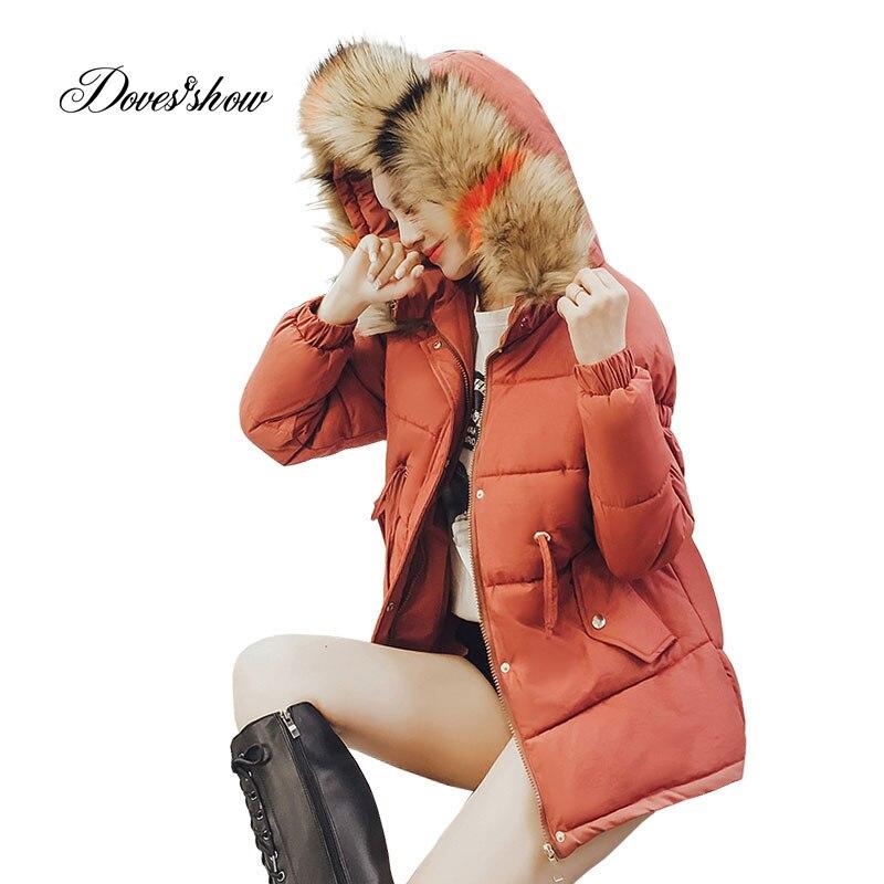 Hooded Elastic Contrast Color Winter Down Coat Jacket Thick Warm Loose Women Casaco Feminino Abrigos Mujer Invierno 2018 Parkas