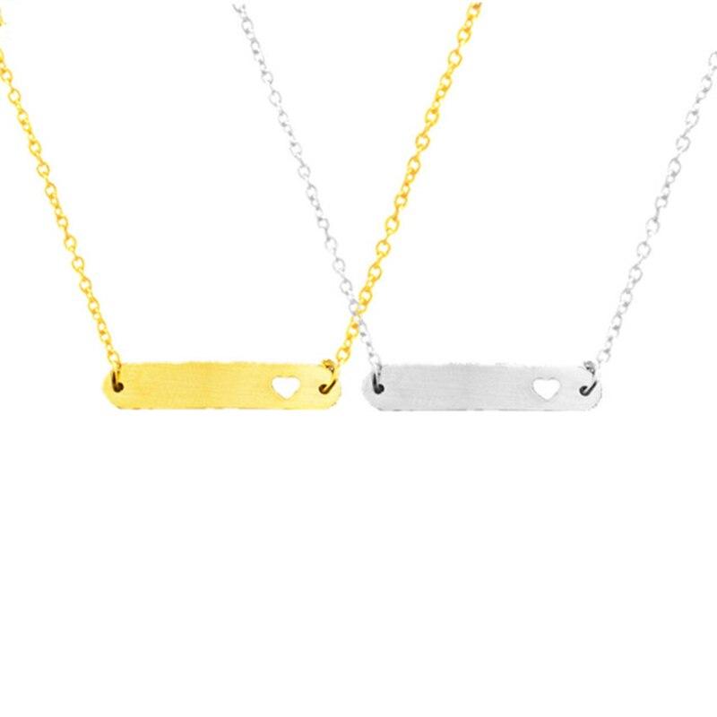 Click here to Buy Now!! Модные Простые горизонтальной вне Сердце Любви бар  Цепочки и ожерелья Jewelry ... 29b4802a089