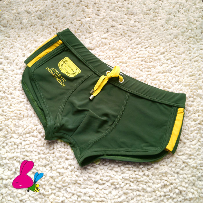 Swimsuit Bathing-Pants Trunks Rope-Style Brief-Tie Sexy Men