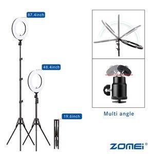 Image 5 - Zomei 調光可能な写真撮影写真スタジオリングライト 3200 5600 18K LED 照明電話アダプタのためのライブ放送ビデオ