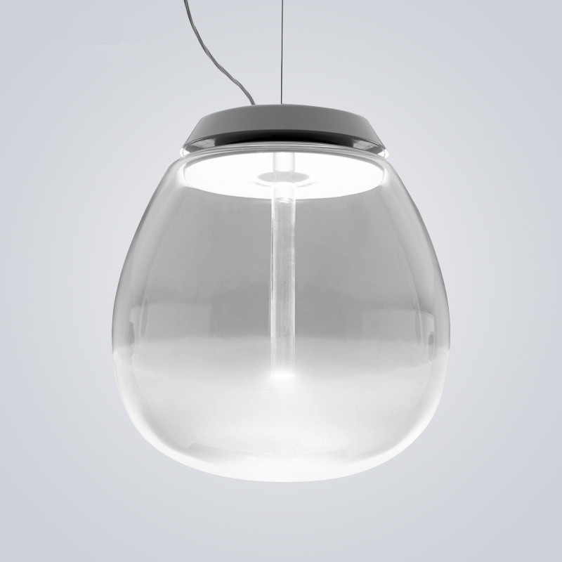 Modern Round Glass Ball LED Pendant Light Restaurant Cafe Hanging Lamp lamparas suspension luminaire Home Lighting Fixtures nordic wood pendant light modern led suspension warm luminaire hanging lamp lamparas colgantes light shade for parlor restaurant