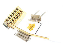 цена Gold Electric Guitar Bridge Tremolo Bridge For FD Strat SQ Electric Guitar Free Shipping в интернет-магазинах