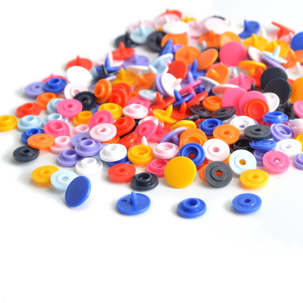 120 pcs T5 KAM Snaps Button Resin Plastic Snap Fasteners Poppers Buttons Studs