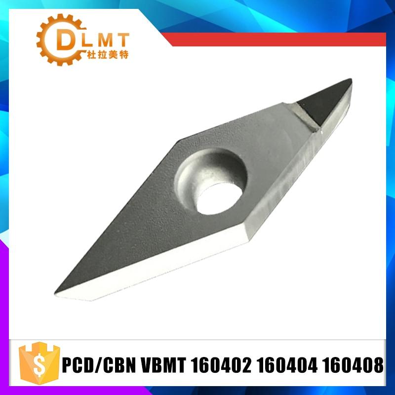 2PCS PCD/CBN VBMT160402 VBMT160404 VBMT160408 Pointes De Diamant Polycristallin Diamants Lame Indexables Inserts