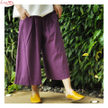 new summer leisure quality casual slacks women linen wide leg pants large size women slacks