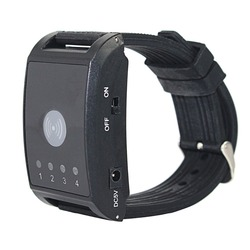 433MHz 4 Channel Watch Receiver Wireless Pager Restaurant Calling System for Waiter Hospital Nurse Call F4411A