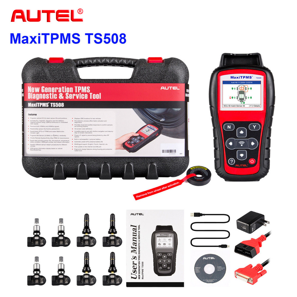 2018 Best TPMS Replacement tool Autel MaxiTPMS TS508 K tire pressure monitoring system reset with 8 programmable TPMS sensor carcam tpms page 8