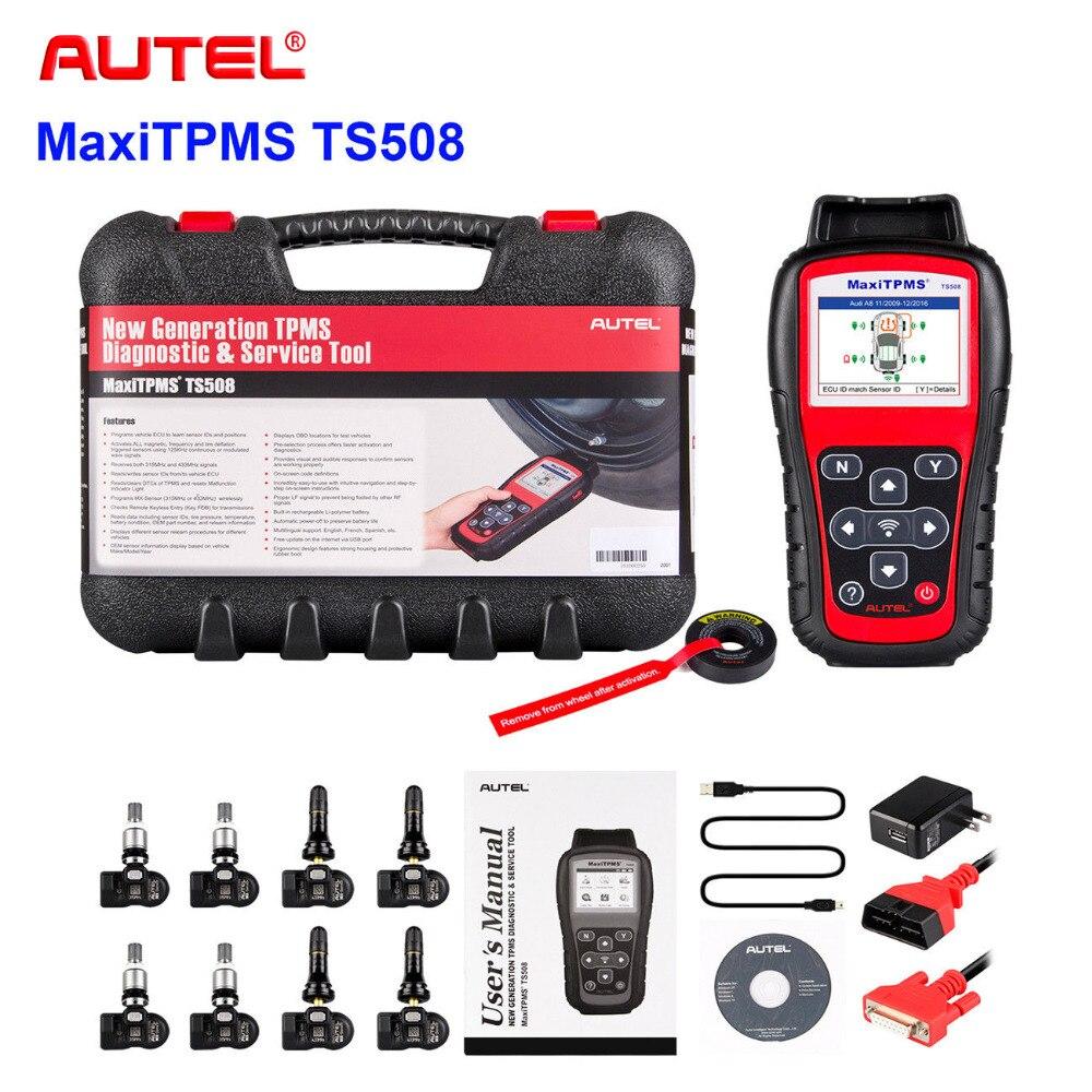 2018 Meilleur TPMS Remplacement outil Autel MaxiTPMS TS508 K réinitialisation du système de surveillance de pression des pneus avec 8 programmable TPMS capteur
