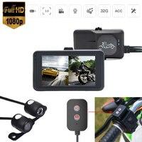 Camera motorcycle moto motorbike Dvr 1080p Full HD Dual Dash Cam Front Rear Recorder Recording Racing Bike Waterproof Shot Photo