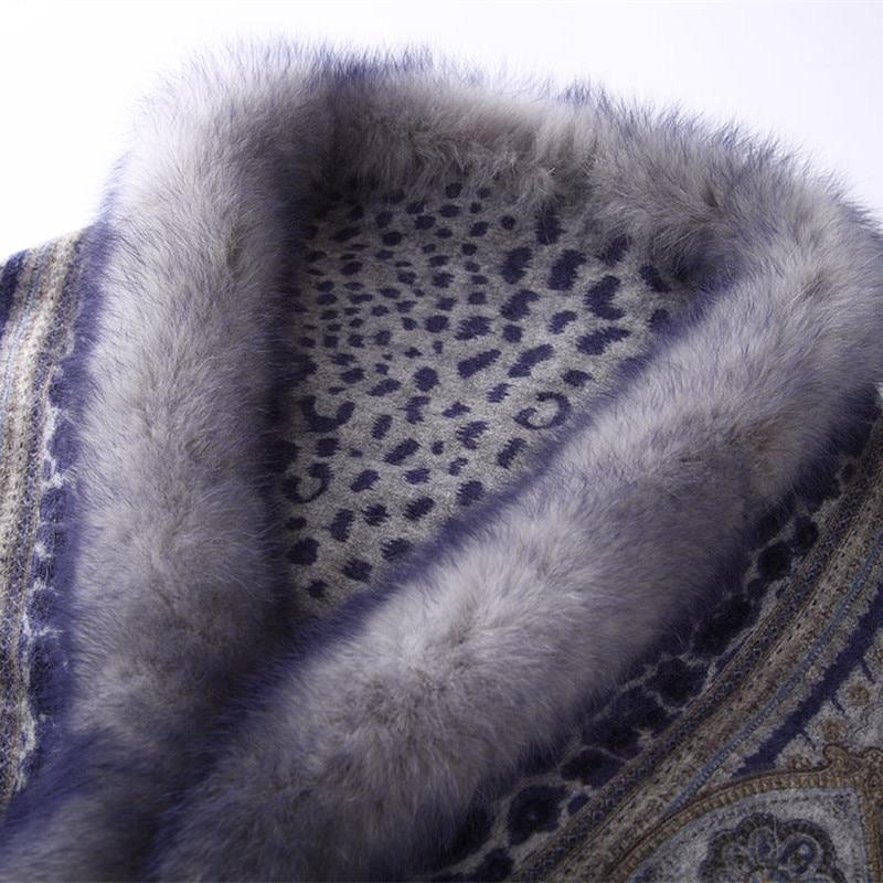 ZY87040 Design spécial luxueux cachemire en forme d'arc col de renard imprimé hiver noël femmes châle enveloppe Pashmina - 5