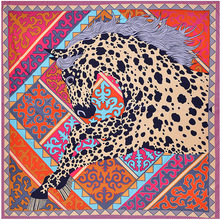 2019 NEW Designer scarf European-style print leopard hores fashionable large size foulard summer women travel twill silk