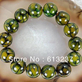New Dragon Veins Agate Jasper 10mm Round loose beads making Woman Bangle/Bracelet 7.5''MY5339