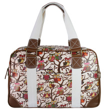 Fashion  Women Men shoulder bags  owl  Oilcloth Large Overnight Weekend Travel Maternity Handbag Tote Bag L1106