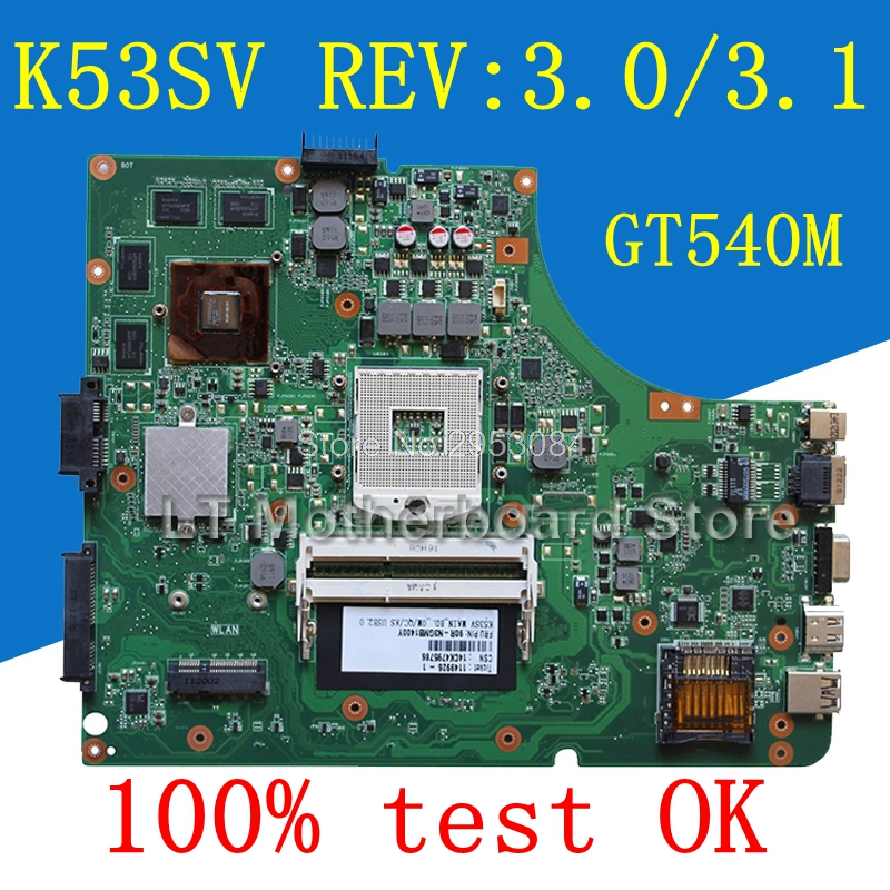 K53SV REV:3.0/3.1 N12P-GS-A1 1G GT540M motherboard for ASUS K53SV k53S X53S A53S k53SM K53SJ Mainboard motherboard dhl ems advantech embedded motherboard pcm 9577 rev a1 for industry use a1