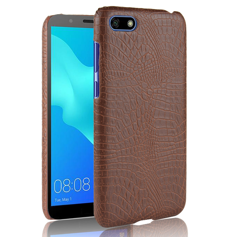 Luxury Crocodile Leather Case for Huawei Y5 2018 Skin Pattern Cover Shockproof Hard Back Shell On Mobile Phone Cases Fundas Bag