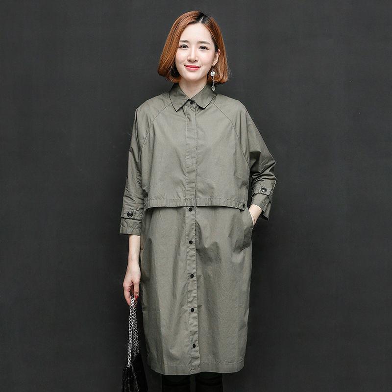 Spring Autumn Women's Thin   Trench   Coat Fashion Slim Solid Single Breasted Ties Medium-Long Windbreaker Female Dust Overcoat D137