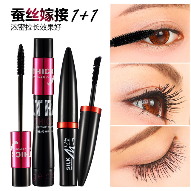 66cdcefa0e1 GECOMO 4D Black Curling Mascara Makeup Volume Quick Dry Thick Extension  Lengthening Eyelashes Waterproof Lasting Cosmetics