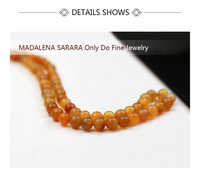 MADALENA SARARA AAAAA 5mm/6mm/7mm/8mm Genuinel Natural Rutile Quartz Beads Strand 18 For DIY Jewelry Making
