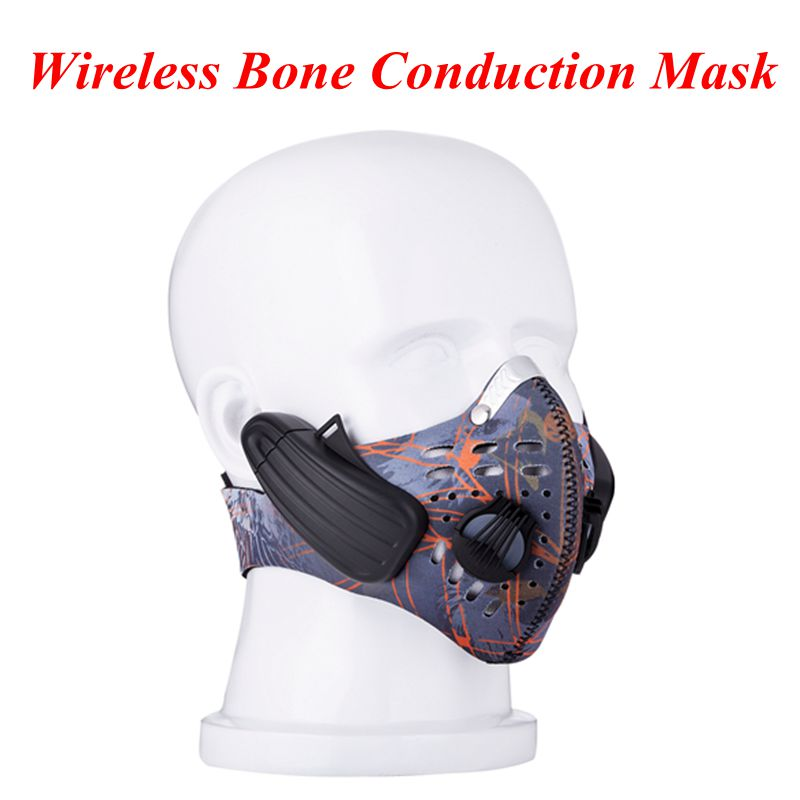 Pengendalian Bone Lead-out City Sports Mask Wireless Headphone - Audio dan video mudah alih - Foto 1