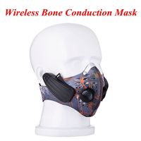Bone Conduction Lead out City Sports Mask Wireless Headphone training mask wireless Headset fitness mask for Outdoor Sports