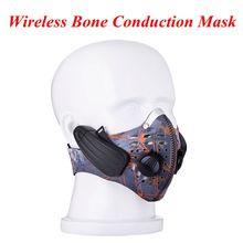 New Lead-out Metropolis Sports activities Masks Wi-fi Bone Conduction Headphone coaching masks wi-fi Headset health masks for Outside Sports activities