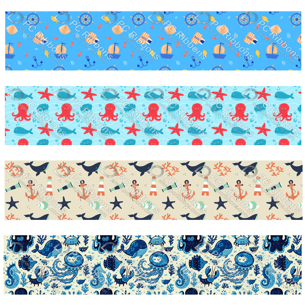 1 yard 1inch Multi Character Grosgrain Ribbon Stained Glass Cartoon Bow Making