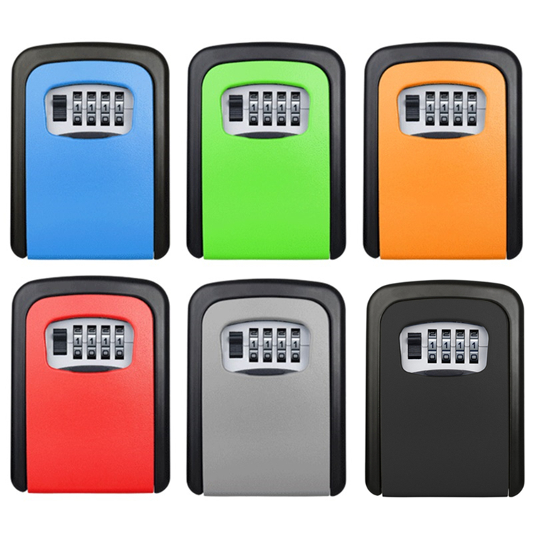 Wall Mount Key Storage Security Lock 4 Digit Security Secret Code Box Durable Colourfull Organizer Aluminum Alloy For House Keys