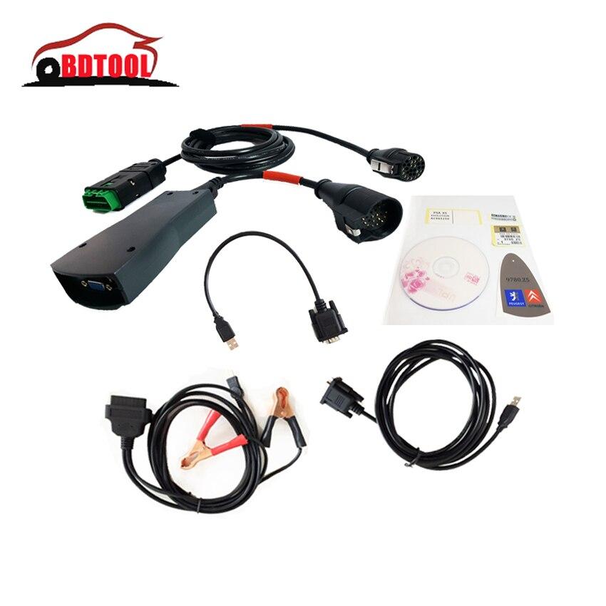 Цена за Лучшие продажи Профессиональный диагностический инструмент lexia 3 с-itroen Новая версия V48 lexia3 Diagbox PP2000 Internface V7.83