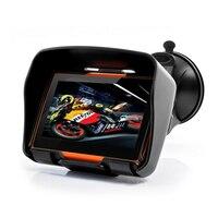 BORUiT 4.3 Inch IPX7 Waterproof Moto GPS 256M RAM 8GB Motorcycle Navigator Motorbike Navigation Free Maps
