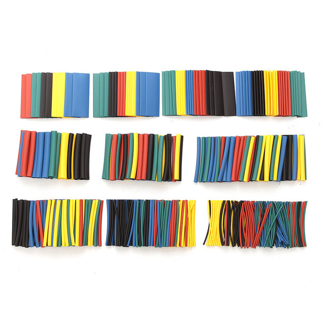 520Pcs 60mm 2:1 Polyolefin Heat Shrink Heat Shrink Tube Tubing Kits Electrical Insulation Assorted Wrap Wire Kit RSFR-H 5Colors