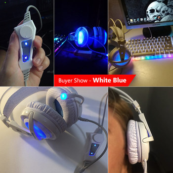 SADES A6 USB Gaming Headphones Professional Over-Ear Game Headset 7.1 Surround Sound Wired Mic for Computer PC Gamer 4