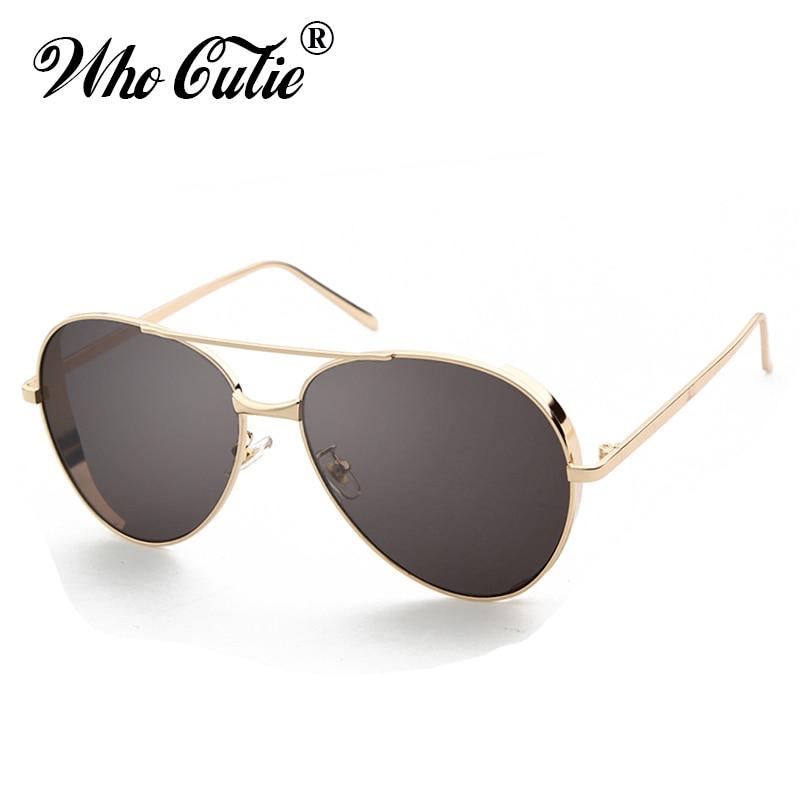 8e35e2d7ade WHO CUTIE 2019 Steampunk Sunglasses Aviation Men Brand Designer Retro Black  Reflected Gold Metal Sun Glasses Male Shades OM777