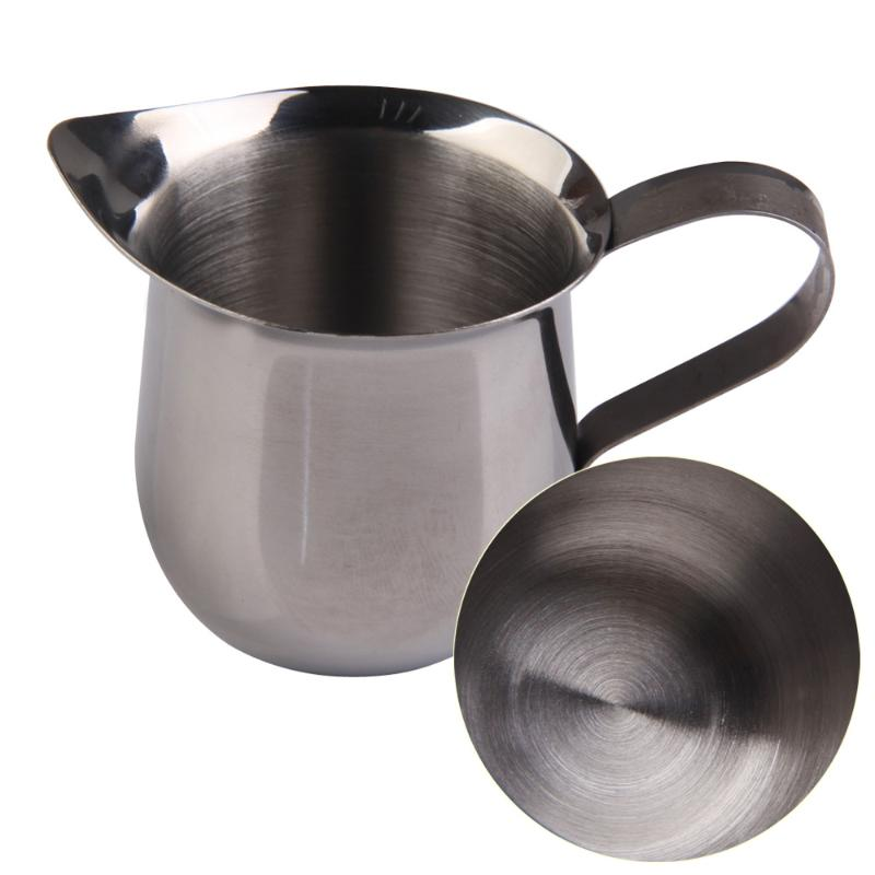 90 150 240 ML New Stainless Steel Milk Coffee Waist Shape Cup Mug Espresso Latte Art Jug Foam Container Home Frothing Pitchers