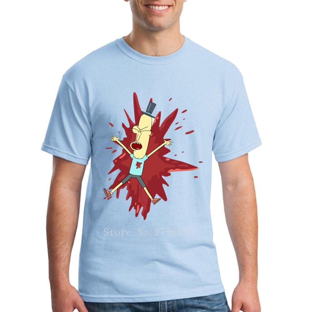 Poopybutthole выстрел Рик и Морти паразит Мужская Рик и Морти Мужская футболка Основные графический хлопок рок футболки мужской топы, футболки