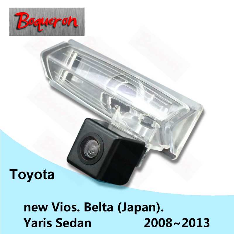 Dla Toyota nowy Vios Belta Yaris Sedan 2008 ~ 2013 HD CCD Night Vision Backup Parking kamera cofania z tyłu samochodu kamera NTSC PAL