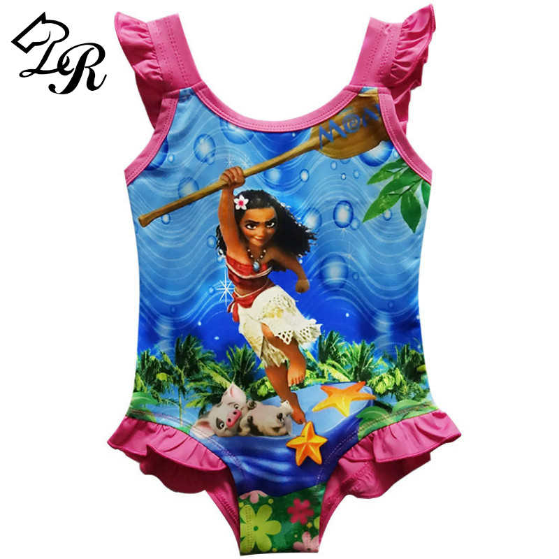 89ad7ffc3 2018 Summer Baby girls Moana Bikini Swimsuit Beachwear Girls Swimmable  Bodysuit Swimsuit Dress tutu Kids Swim