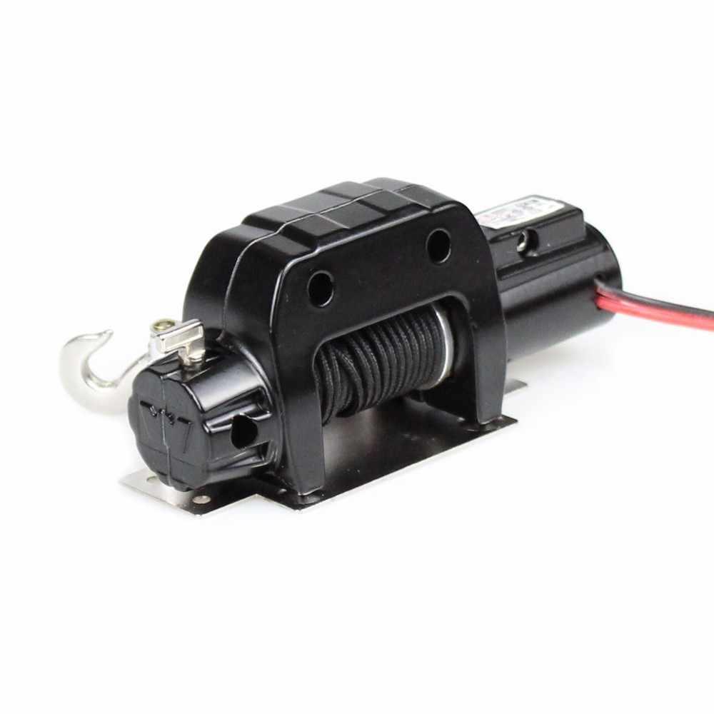 MEREPACCOR Rc coche de Metal de acero de cable automático simulado cabrestante para 1/10 Rc Crawler coche Axial Scx10 90046 D90 Traxxas Trx4