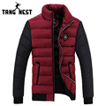 TANGNEST 2017 Winter Fashion Men Jacket Warm Casual Men Coat Hot Selling Thick Stand Collar Jacket Men Plus 4 Colors MWM1348