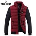 Tangnest 2017 la moda de invierno chaqueta de los hombres calientes casual capa de los hombres Venta caliente Gruesa Chaqueta de Cuello alto Hombres Plus 4 Colores MWM1348