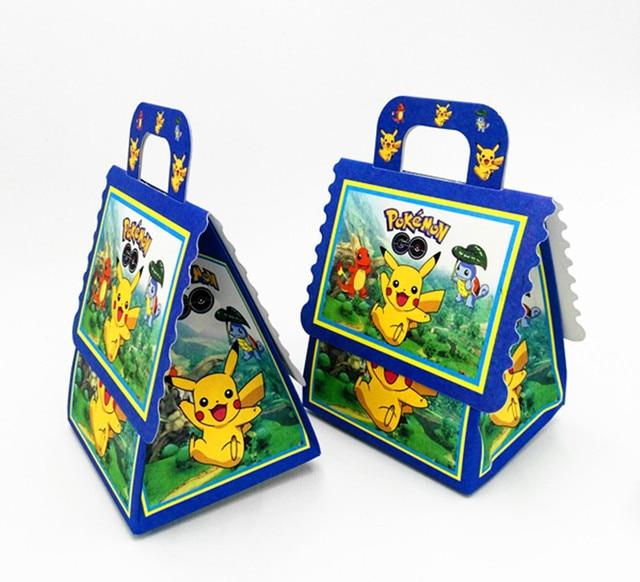 6PCS SET POKEMON THEME CANDY BOX GIFT KIDS SCHOOL BAGS FAVOR BIRTHDAY PARTY SUPPLIES PIKACHU BAG